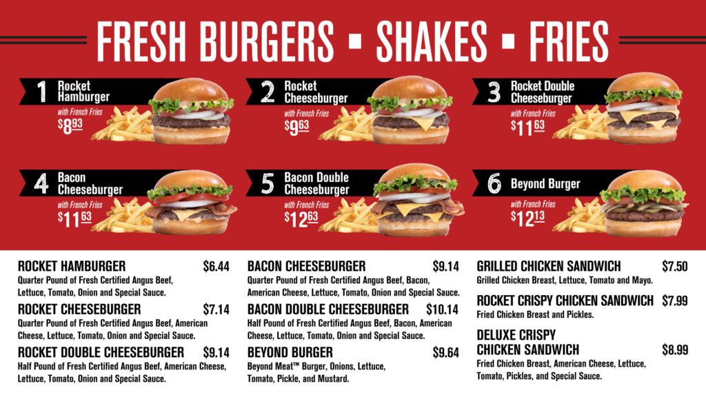 burgers, shakes & fries